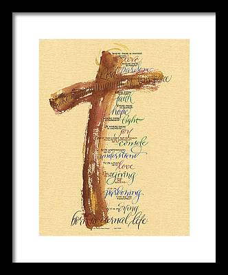 St Francis Peace Prayer Framed Prints