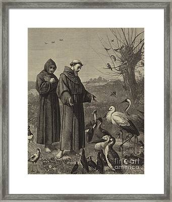 St Francis Preaches To The Birds  Framed Print by Henry Stacey Marks