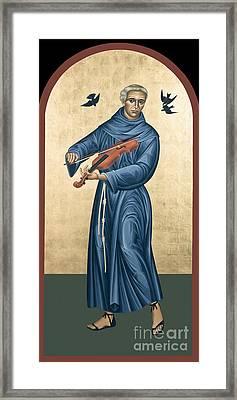 St. Francis Solano - Rlfrs Framed Print by Br Robert Lentz OFM