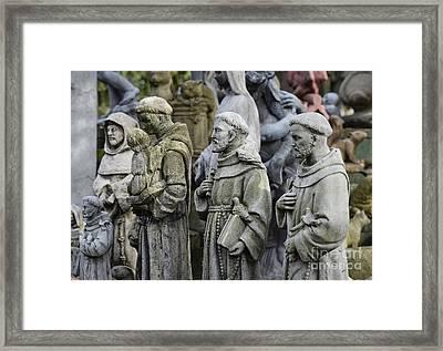St Francis Statues Framed Print by John Greim
