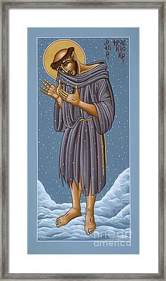 St Francis Wounded Winter Light 098 Framed Print