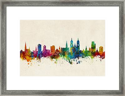 St Gallen Switzerland Skyline Framed Print
