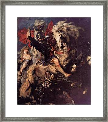 St George And A Dragon Framed Print