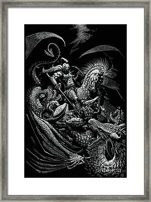 St. George And The Dragon Framed Print
