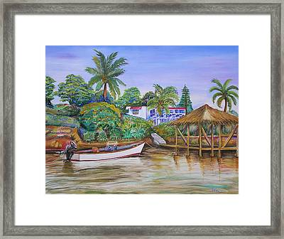 St. George Harbor Framed Print