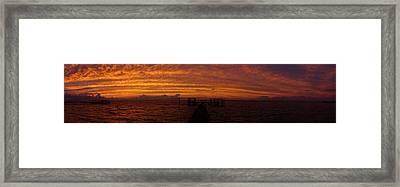St. George Island Panorama Framed Print