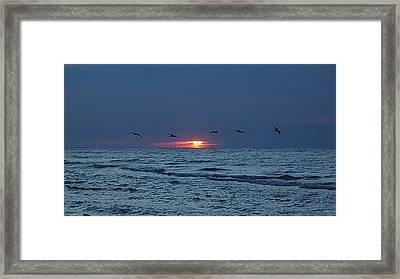 St. George Island Sunrise Framed Print