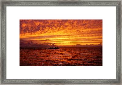 St. George Island Sunset Framed Print