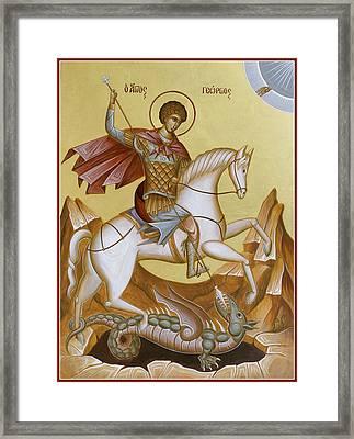 St George Framed Print by Julia Bridget Hayes