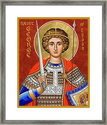 St. George Of Lydda - Jcgly Framed Print
