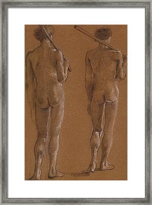 St George Series Male Nude Framed Print by Edward Burne-Jones