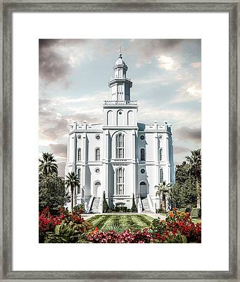 St George Temple - Tower Of The Lord Framed Print