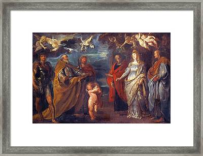 St George With Martyrs Maurus Papianus Domitilla Nerus And Achilleus Framed Print
