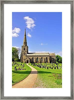 St George's Church - Ticknall  Framed Print by Rod Johnson
