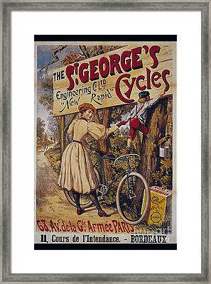 St Georges Cycles Vintage Cycle Poster Framed Print by R Muirhead Art