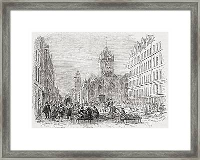St Giles And The Old Tron Church Framed Print by Vintage Design Pics