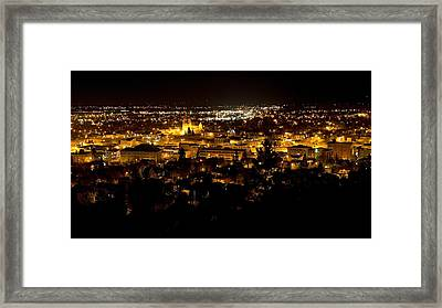 St Helena Cathedral And Helena By Night Framed Print