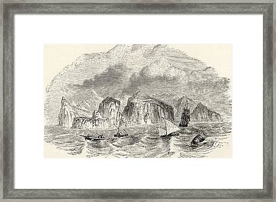 St Helena From The Book Journal Of Framed Print