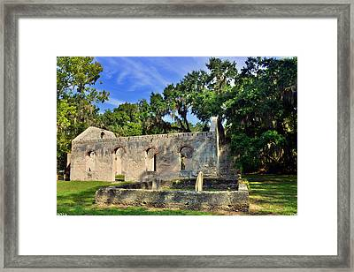 St. Helena Island Chapel Of Ease Bluffton Sc Framed Print by Lisa Wooten