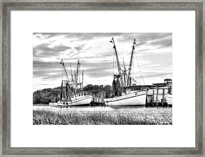St. Helena Shrimp Boats Framed Print by Scott Hansen