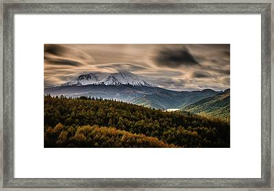 Framed Print featuring the photograph St. Helens Wrath by Dan Mihai