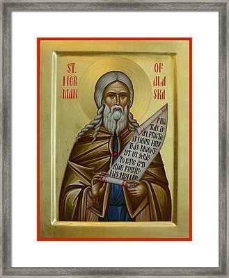 St. Herman Of Alaska Framed Print