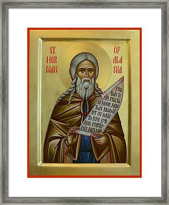 St. Herman Of Alaska Framed Print by Daniel Neculae