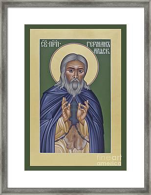 St. Herman Of Alaska  - Rlala Framed Print by Br Robert Lentz OFM