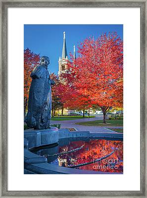 St Ignatius At Gonzaga Framed Print by Inge Johnsson