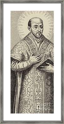 St Ignatius Loyola, Founder Of The Society Of Jesus Framed Print