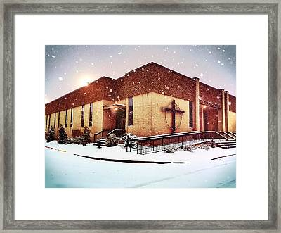 St. Isaac Jogues In The Snow Framed Print