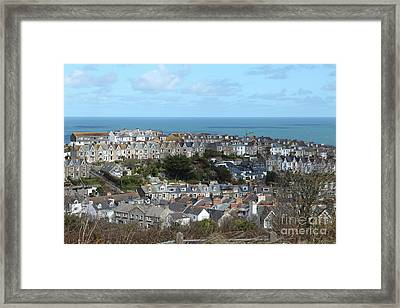 Framed Print featuring the photograph St Ives, Cornwall, Uk by Nicholas Burningham