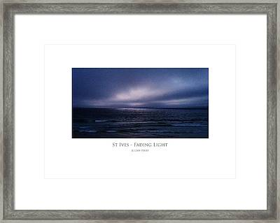 Framed Print featuring the digital art St Ives - Fading Light by Julian Perry