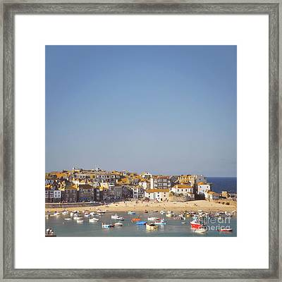 Framed Print featuring the photograph St Ives Harbour by Lyn Randle