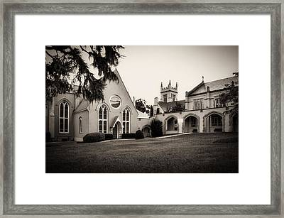 St James Parish Wilmington North Carolina In Sepia Framed Print