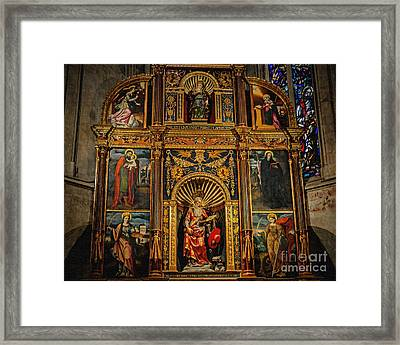 St. Jerome Chapel Altarpiece Framed Print by Sue Melvin