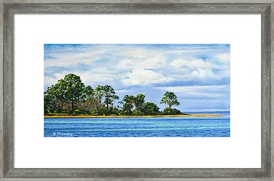 Framed Print featuring the painting St. Joe by Rick McKinney
