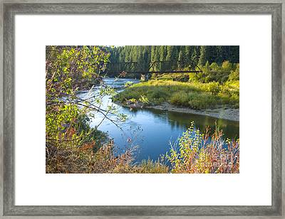 St. Joe River Framed Print