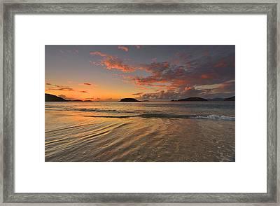 St. John Sunset Reflections Framed Print by Stephen  Vecchiotti