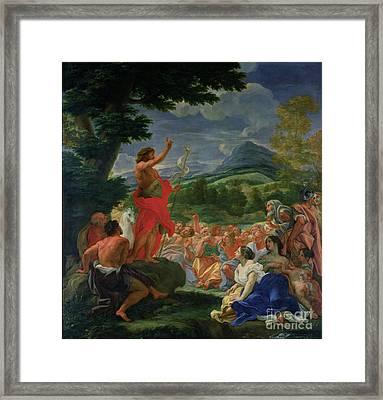 St John The Baptist Preaching Framed Print