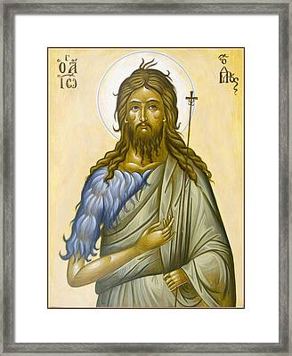 St John The Forerunner Framed Print by Julia Bridget Hayes