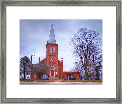 St. John's Lutheran Church Framed Print by Cricket Hackmann