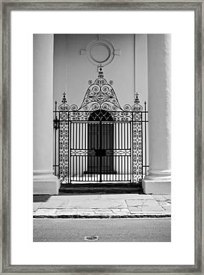 St John's Lutheran Church Entrance Framed Print