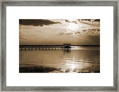 Framed Print featuring the photograph St. Johns River by Anthony Baatz