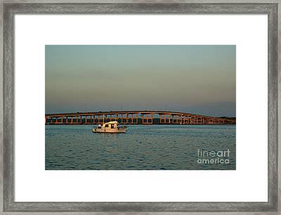 St. Johns River At Palatka Framed Print by Kathi Shotwell
