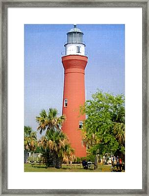 Framed Print featuring the photograph St Johns River Lighthouse by Frederic Kohli