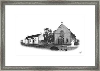 St. John's School And Chapel - Annaghmore Framed Print