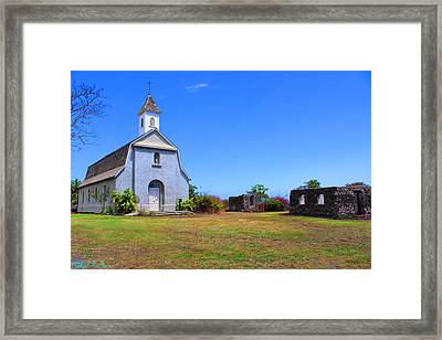 St Joseph Church Maui Framed Print
