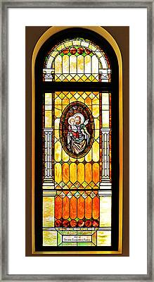 St Joseph Immaculate Conception San Diego Framed Print by Christine Till