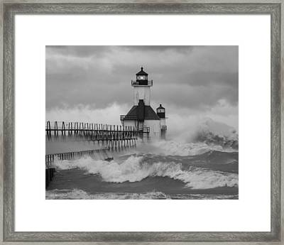 St. Joseph North Pier Lighthouse Framed Print
